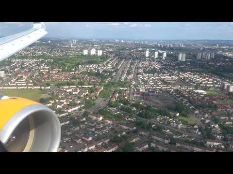 Glasgow Airport approach and landing   12th June 2018