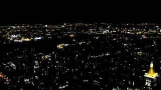 Вид на ночной Нью-Йорк с самого высокого небоскрёба