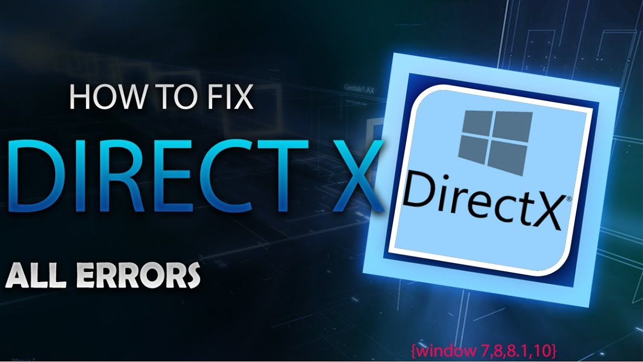 How to fix DirectX Error [windows 7 / 8 / 8 1 / 10] when you run a game  100% WORKING