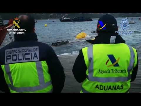 "Vista por dentro del ""narcosubmarino"" interceptado en Galicia"