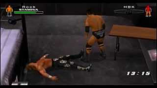 "(PS2) Smackdown vs RAW 2006 ""TLC"" Gameplay Online (The Rock vs Shawn Michaels) [05/06/2014]"