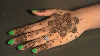 Eid Mehndi : Circular/Round - Traditional Indian/Pakistani Henna Mhendi Design