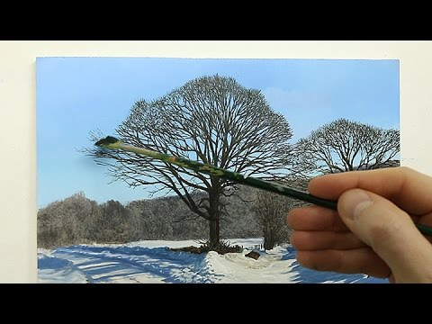 76 How To Paint Snow Oil Painting Tutorial Youtube