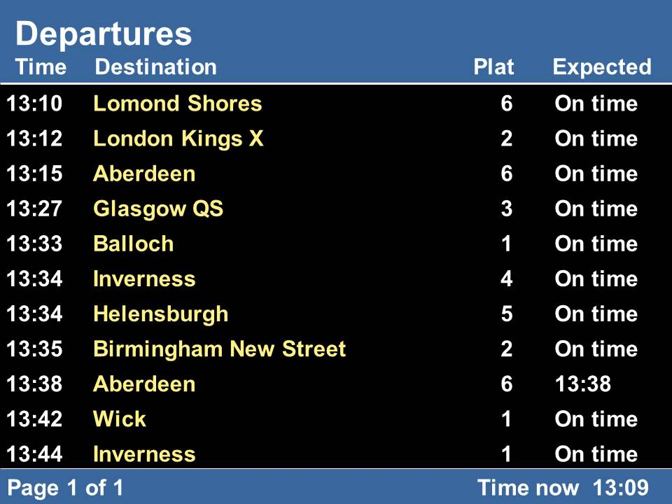 double time train station departures board simulation - YouTube