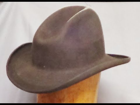 01b8543bdea172 How to Make a Cowboy Hat with no mechanization....Step 1 - YouTube
