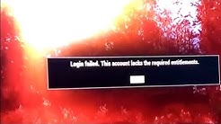 Login failed. This account lacks the required entitlements