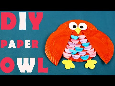 DIY Paper Plate Owl | How To Make Paper Plate Owl | Craft Videos For Kids | Craft At Home