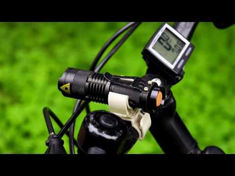 Крепление для фонарика на руль велосипеда