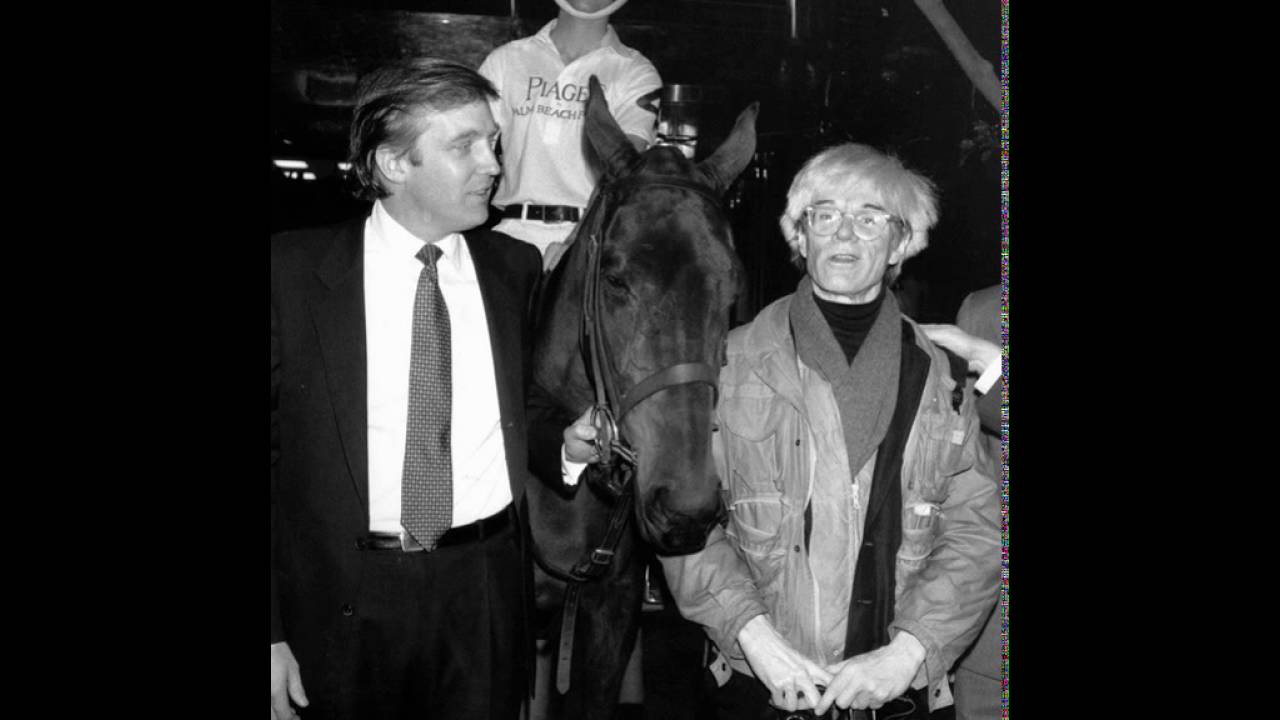 Donald Trump Andy Warhol And A Horse Youtube