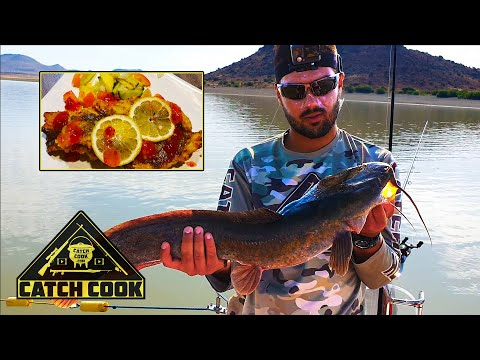 Ep 1 of 2 - Light tackle boat fishing championship - barbel catch cook - Gariep Dam, South Africa