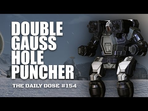 Dual Gauss Hole Puncher Hunchback IIC - Mechwarrior Online The Daily Dose #154