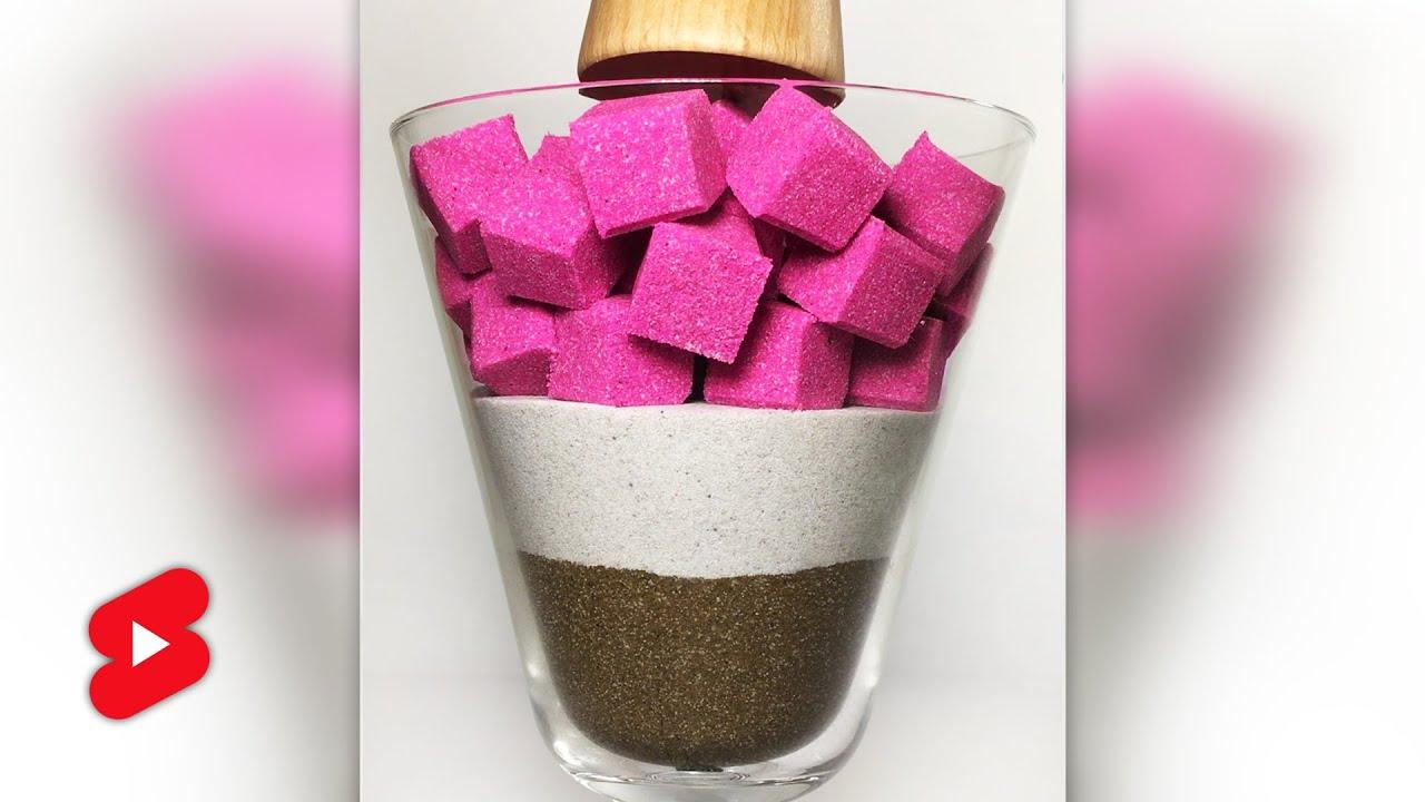 Ice Cream Drop and Squish Kinetic Sand ASMR #shorts