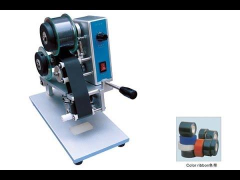 portable hot ribbon coder machine Electric batch expiry date coding machinery  hot foil coder