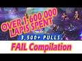 [FFBE] Ziss FAIL Pulls Compilation #1 - Over 3,500 Pulls & 1.6 Million Lapis Spent