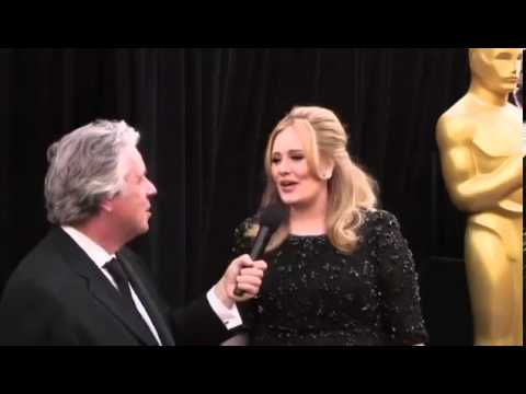 Adele Oscars 2013 Backstage Red Carpet Interview