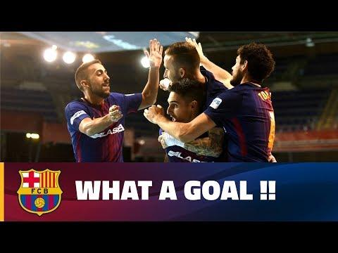 Barça Futsal's spectacular move and goal