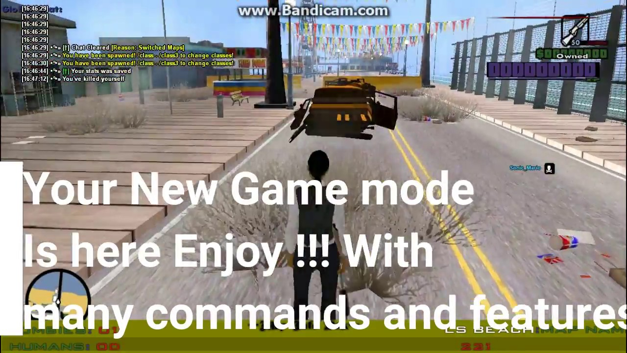 GTA SAMP : Add New Game Modes To Your server for free | Any Server | Zombie  | DM | Freeroam and all