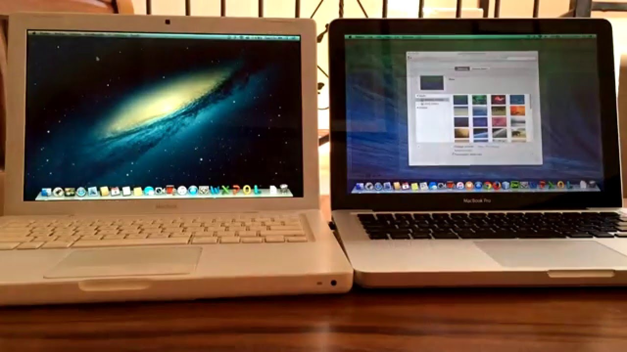 [Comparación Macbook - 2016] Macbook White 2007 vs Macbook Pro 2008 - OS X 10.8.5 vs OS X 10.9.5 ...