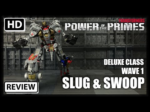 Transformers Power Of The Primes Wave 1 Deluxe Dinobots SWOOP and SLUG