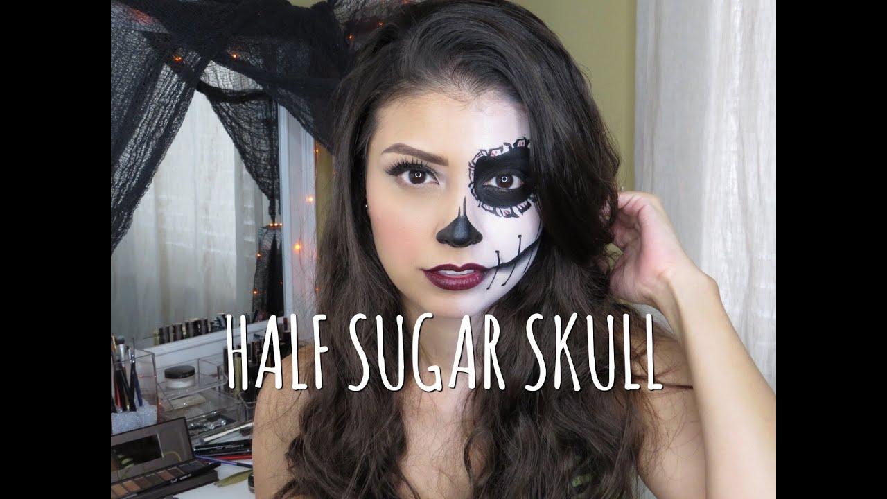 Dia De Los Muertos Half Face Paint