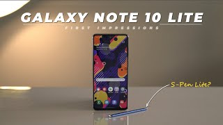 Galaxy Note 10 Lite First Impressions: S-Pen in Action!