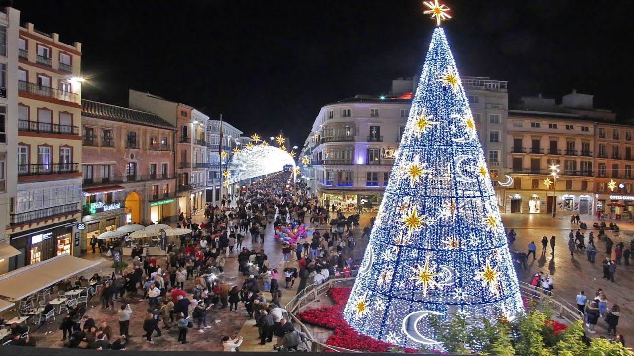 Luces navidad m laga 2015 2016 youtube - Luces arbol de navidad ...