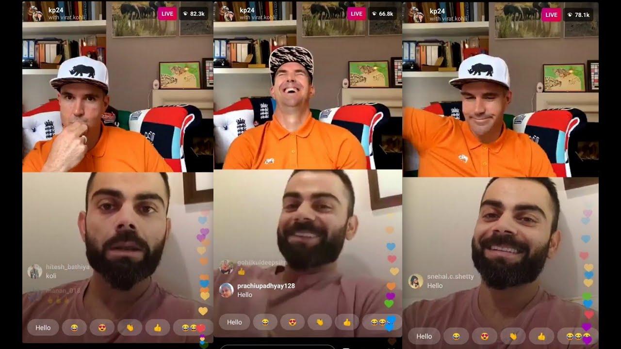 Virat Kohli and Kevin Pietersen Full Live Instagram Session | 2nd ...