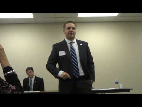 Debate at WesBanco State Representative Jaret Gibbons and Aa