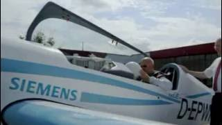 Первый полет электросамолета Siemens