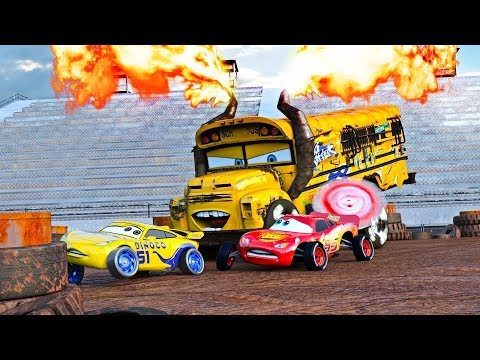 """FIRE-UP"" 🔥 Miss Fritter & Lightning McQueen Racing Days. Crash N Smash Crazy 8 Race Disney Cars 🔥"