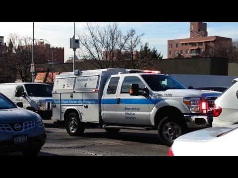 Rare North Shore university hospital emergency medical services responding in heavy traffic