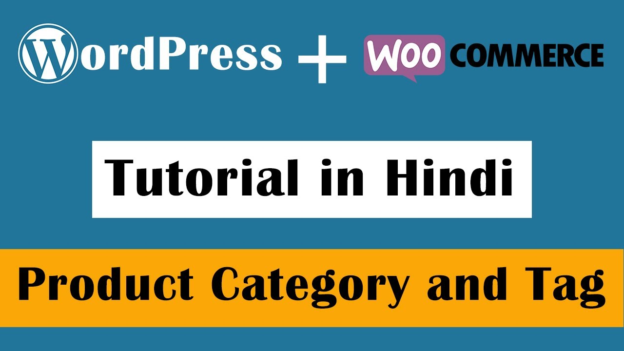 WooCommerce Product Category and Tag