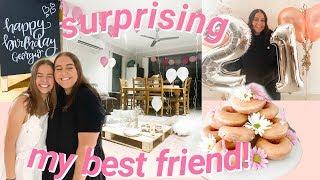 SURPRISING my best friend for her 21st birthday!!!