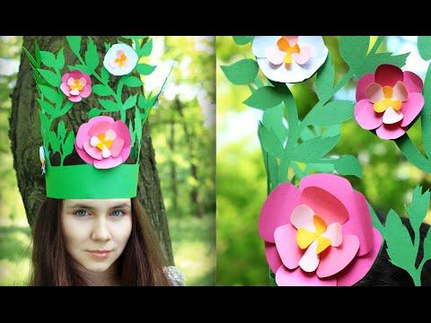 DIY Cut Paper Fairy Kids Crown
