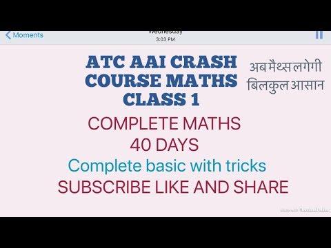 ATC AAI MATHS CRASH COURSE MATHS DAY 1 CLASS 1....most easy method