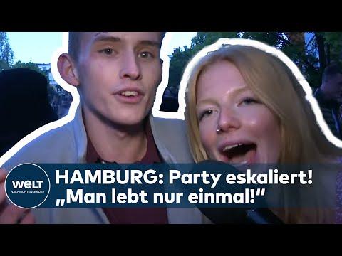 """ILLEGALE PARTY IN HAMBURG ESKALIERT! """"Man lebt nur einmal!"""" - Polizei räumt Schanze I WELT News"""