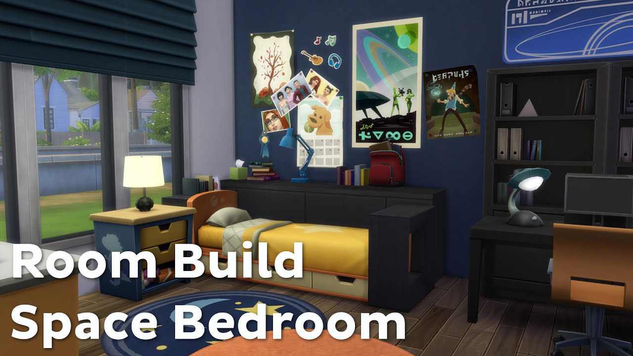 Space Bedroom The Sims 4 Room Build Space Bedroom Youtube