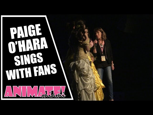 Paige OHara Belle from Beauty and the Beast Sings with Fans