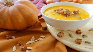 Тыквенный Суп-Пюре / Balkabağı Çorbası Tarifi / Pumpkin Soup-Puree