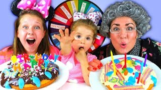 Mystery Wheel of BIRTHDAY CAKE Switch Up Challenge!!