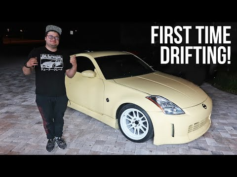 Learning to drift with his FREE 350Z!