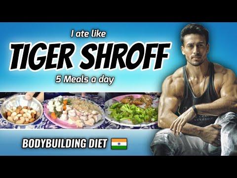 "I Tried "" TIGER SHROFF "" Bodybuilding Diet Plan For A Day 🇮🇳"