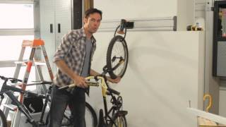How to Make a Bike Rack for a Garage : Home Storage & Organizing