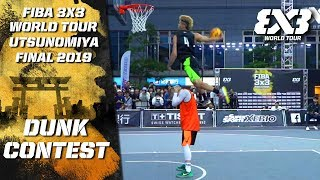 Isaiah Rivera wins epic Ashikaga Ginkou Dunk Contest! | FIBA 3x3 World Tour - Utsunomiya Final 2019 Video