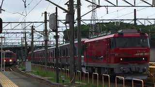 [EL120&9500と並ぶ‼️]名鉄3100系 3121f(普通金山行き)大江駅 入線‼️