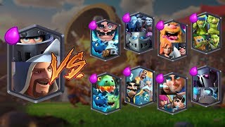 MEGA KNIGHT + WIZARD VS ALL TEAMS | CLASH ROYALE TEAM CHALLENGE