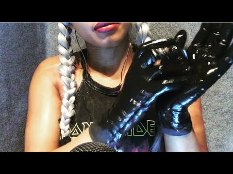ASMR- latex gloves, oil and lotion 💦💦