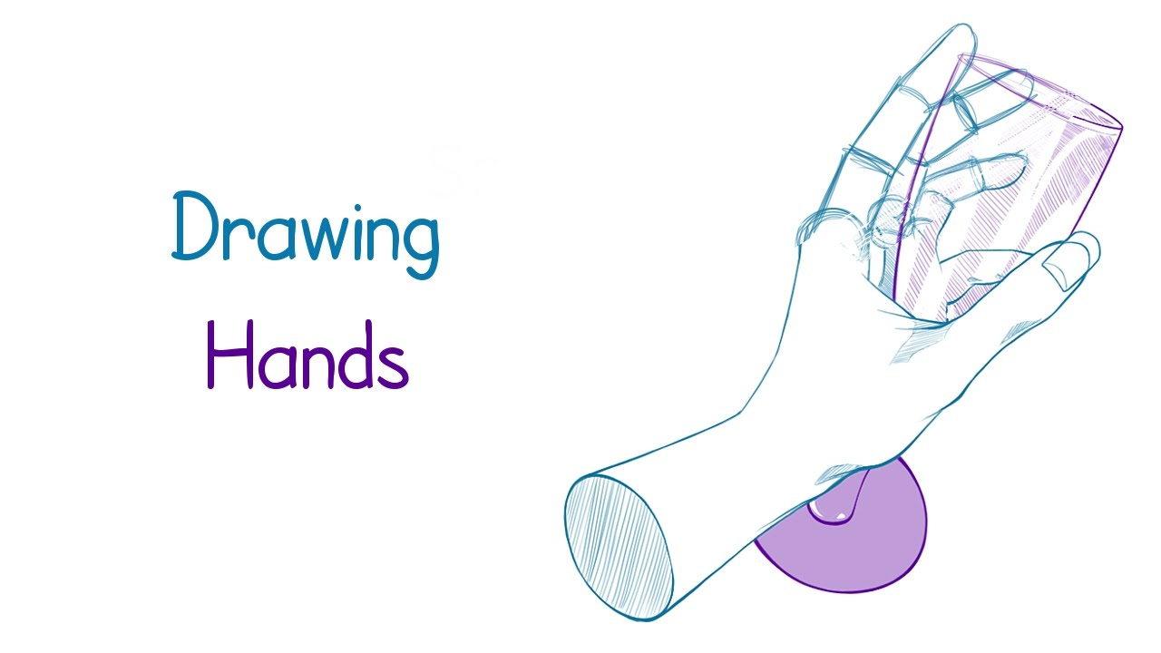 process drawing hand practice youtube