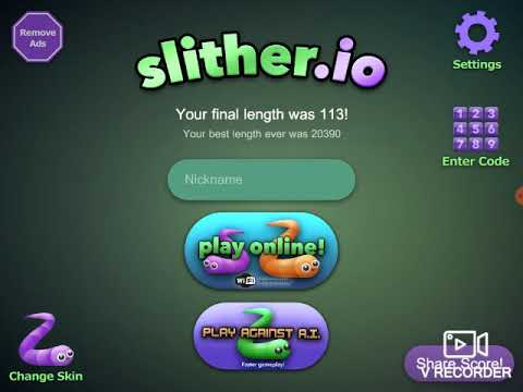 SHITHER IO GAME PLAY(tablet)
