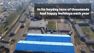 Drone footage of the former Pontins holiday camp at Hemsby near Great Yarmouth